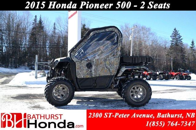 2015 Honda Pioneer500 Lift Kit! Mag Wheels! Camo Doors! Soft Top! & 2015 Honda Pioneer500 Lift Kit! Mag Wheels! Camo Doors! Soft Top ...
