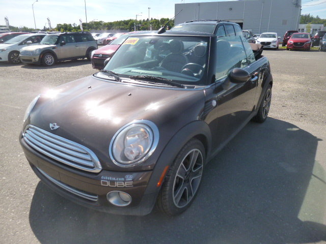 mini cooper convertible 2009 d 39 occasion vendre chez dube kia. Black Bedroom Furniture Sets. Home Design Ideas