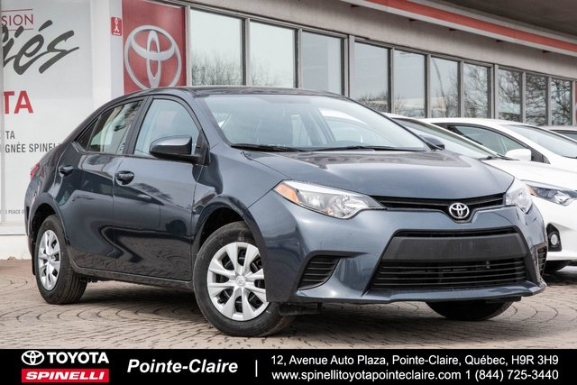 Toyota Pointe Claire >> Pre Owned 2016 Toyota Corolla For Sale At Spinelli Toyota Pointe Claire