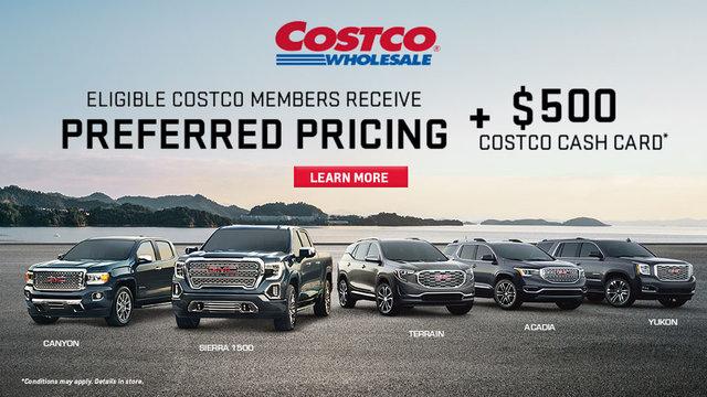 Costco - Preferred pricing GMC