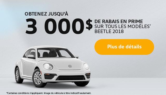 Obtenez une Beetle 2018