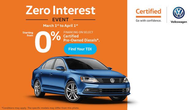 The Zero Interest Event