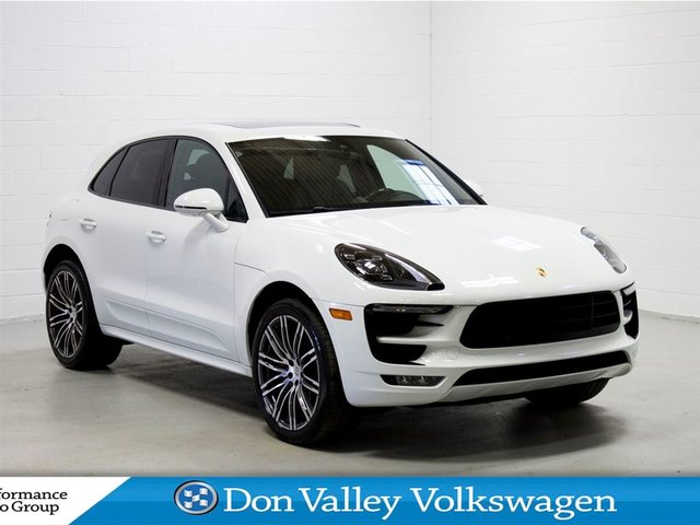 2017 Porsche Macan Turbo w/Performance Package Nav Cam Sunroof