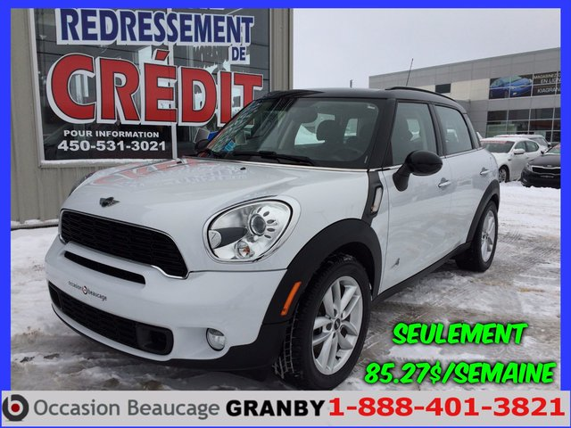 MINI Cooper Countryman S ALL4 AWD+CUIR+TOIT PANORAMIQUE+8 PNEUS!!! 2014