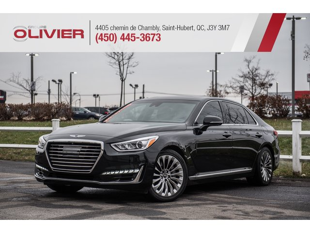 Genesis G90 Ultimate 4WD MAGS CUIR NAV CAMÉRA TOIT A/C 2017