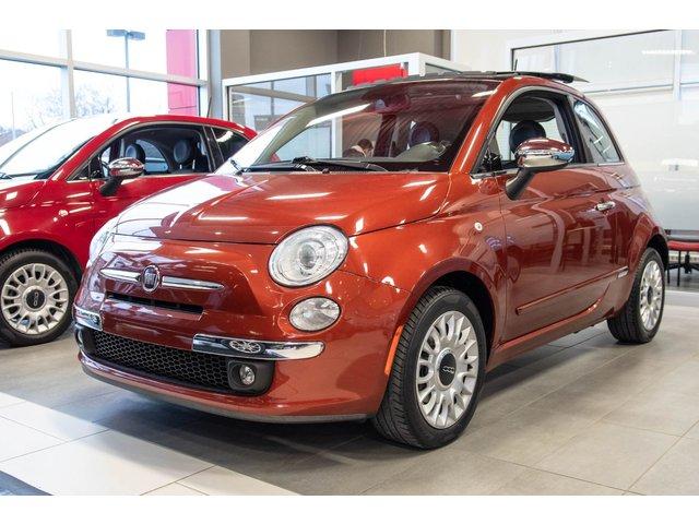 Fiat 500 Lounge ** BAS KM ** SIEGES EN CUIR TOIT PANO 2014