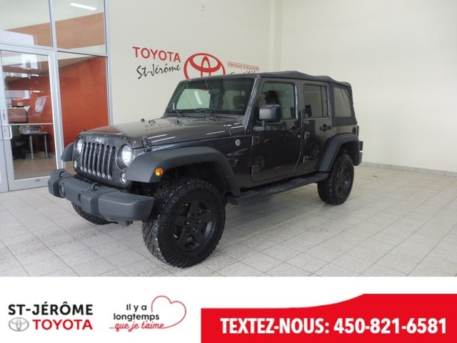 Jeep Wrangler Unlimited * Sport * MANUEL * A/C * MAGS * CRUISE * 2016