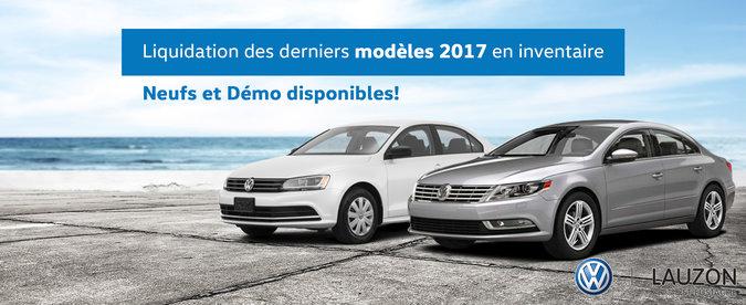 Liquidation des derniers modèles 2017 en inventaire