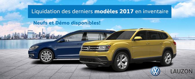 Liquidation des modèles 2017 en inventaire