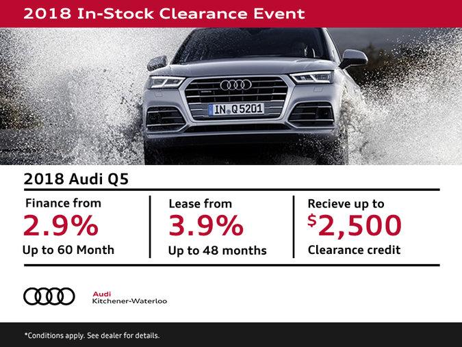 Get a 2018 Audi Q5  Today