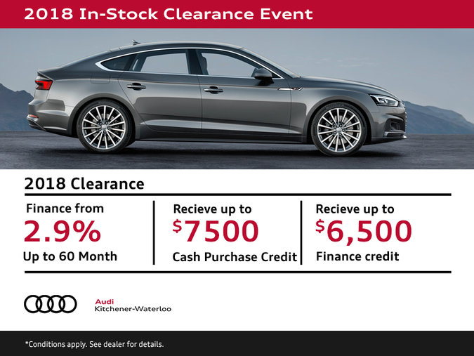 2018 Model Year Clearance Event