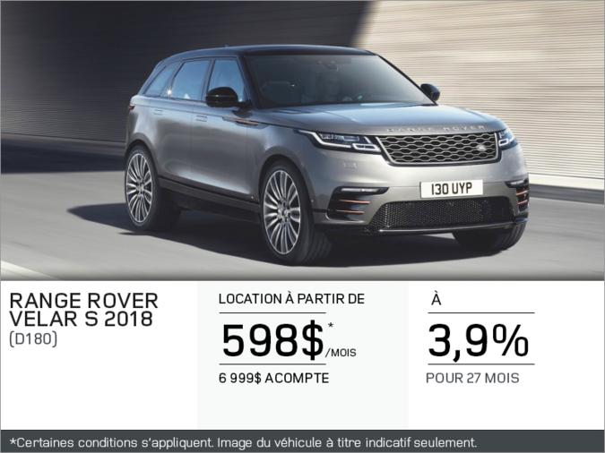 Le Range Rover Velar S 2018