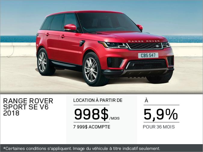 Le Range Rover Sport 2018