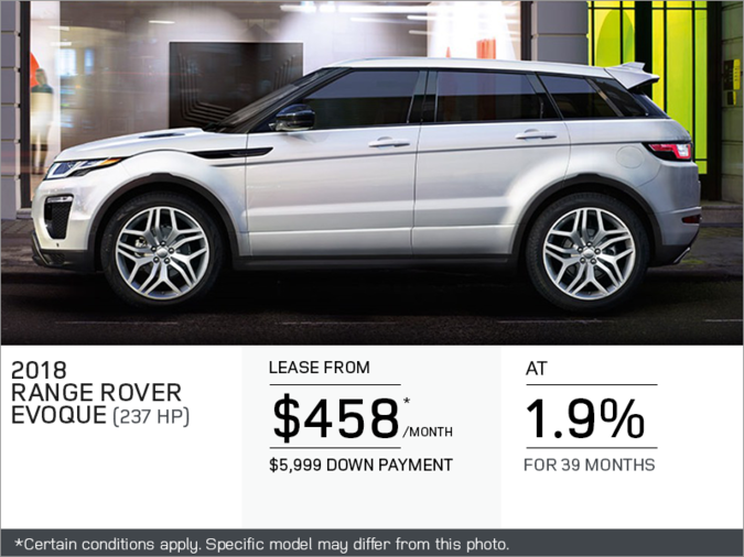 The 2018 Range Rover Evoque