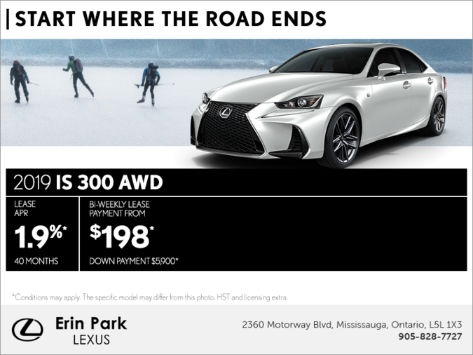 Get the 2019 Lexus IS 300 AWD today!