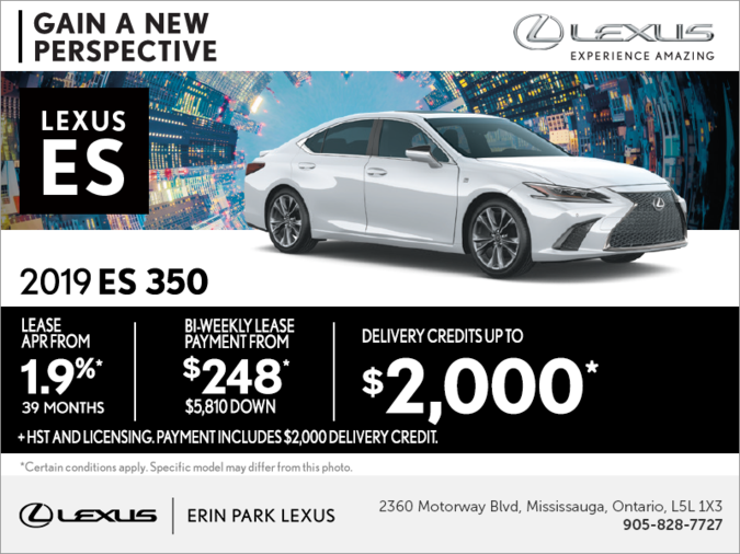 Lease the 2019 Lexus ES 350 today!
