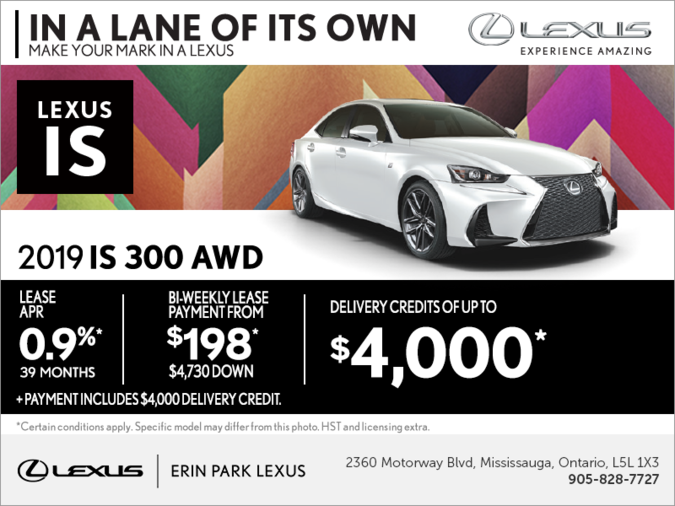 Lease the 2019 Lexus IS 300 today!