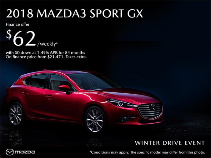 Gerry Gordon's Mazda - Get the 2018 Mazda3 today!