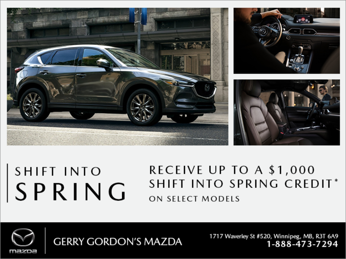 Gerry Gordon's Mazda - Shift into Spring