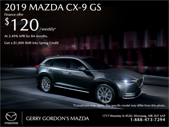 Gerry Gordon's Mazda - Get the 2019 Mazda CX-9 today!