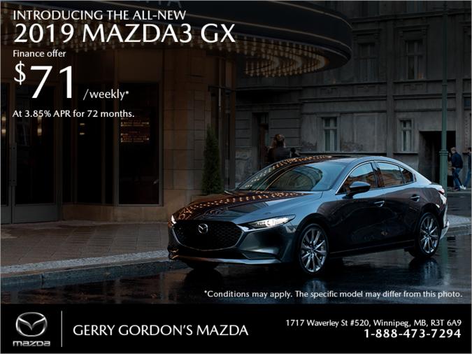 Gerry Gordon's Mazda - Get the 2019 Mazda3 today!