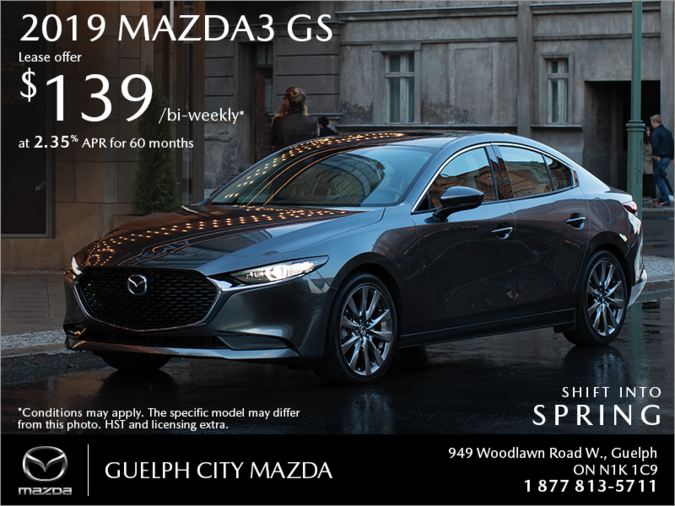 Guelph City Mazda - Get the 2019 Mazda3 Today!