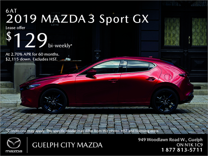 Guelph City Mazda - Get the 2019 Mazda3 Sport Today!