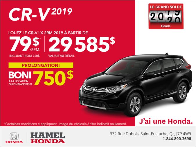 Louez le CR-V 2019!