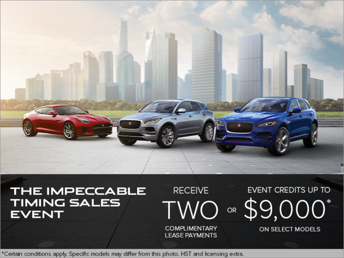 THE IMPECCABLE TIMING SALES EVENT