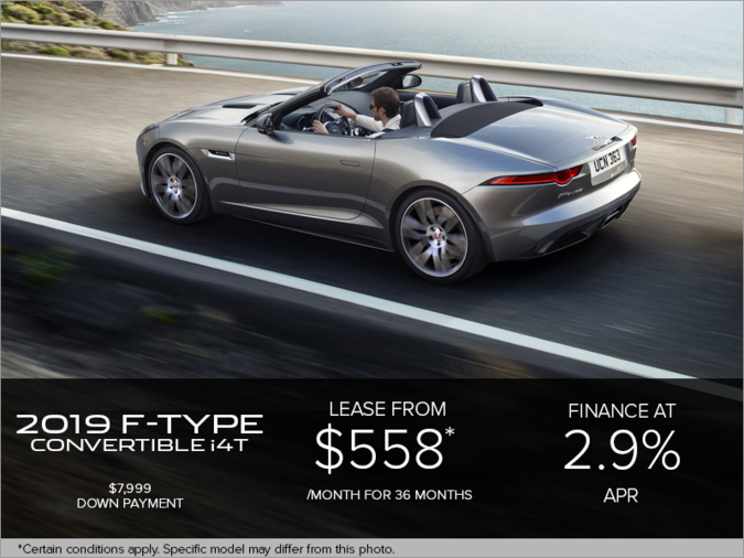 The 2019 Jaguar F-TYPE Convertible i4T