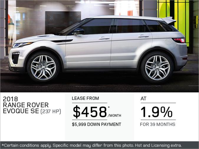 The 2018 Range Rover Evoque SE