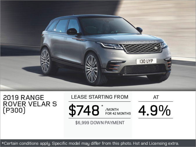 The 2019 Range Rover Velar