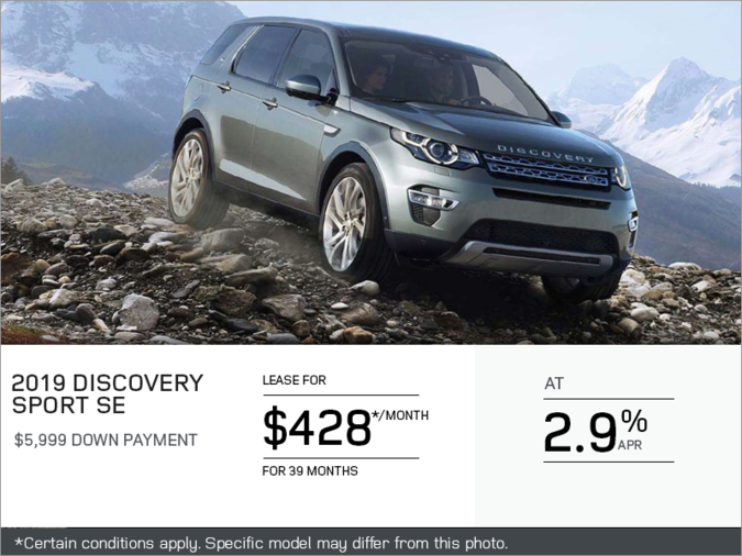 The 2019 Land Rover Discovery Sport SE