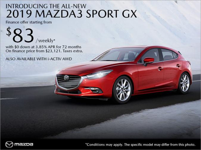 Regina Mazda - Get the 2019 Mazda3 Sport today!