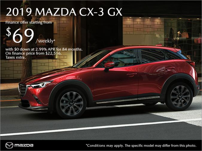 Regina Mazda - Get the new 2019 Mazda CX-3 today!