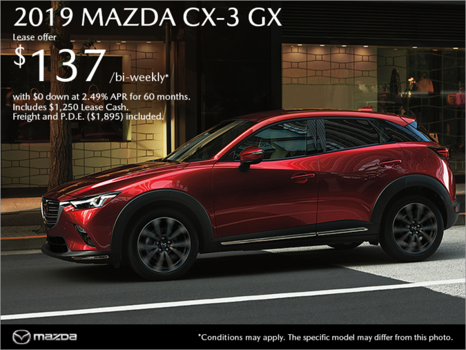 Get the 2019 Mazda CX-3 Today!