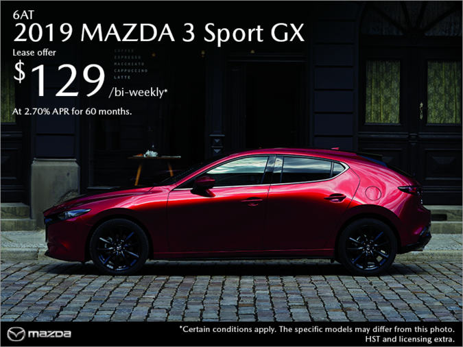 Lallo Mazda - Get the 2019 Mazda3 Sport Today!