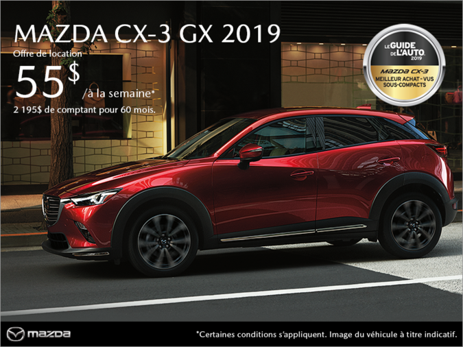 Mazda Pointe-aux-Trembles - Procurez-vous le Mazda CX-3 2019!