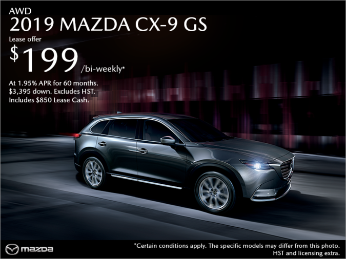 St. Catharines Mazda - Get the 2019 Mazda CX-9 Today!