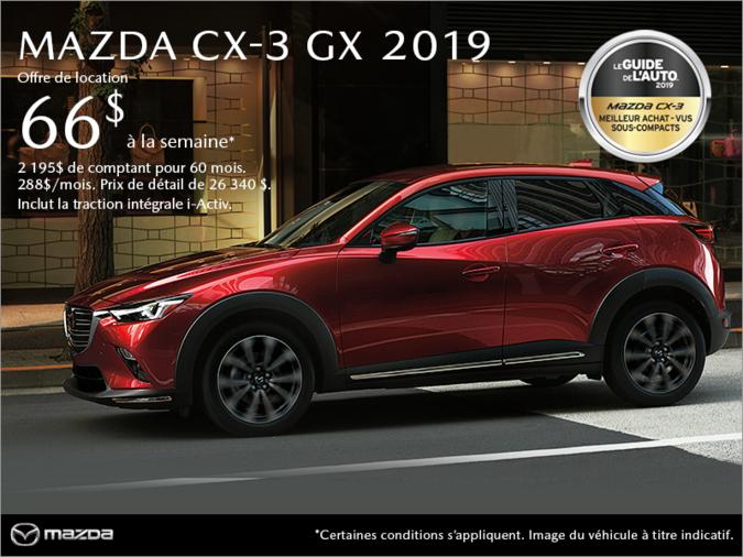 Mazda Gabriel St-Laurent - Procurez-vous le Mazda CX-3 2019!
