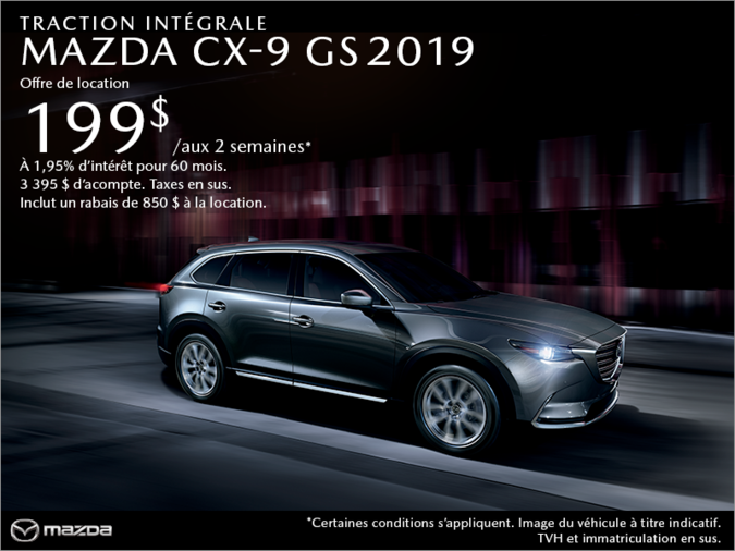 Agincourt Mazda - Procurez-vous le Mazda CX-9 2019 aujourd'hui!