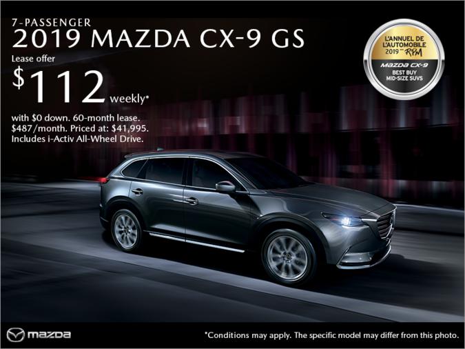 Mazda Pointe-aux-Trembles - Get the 2019 Mazda CX-9!
