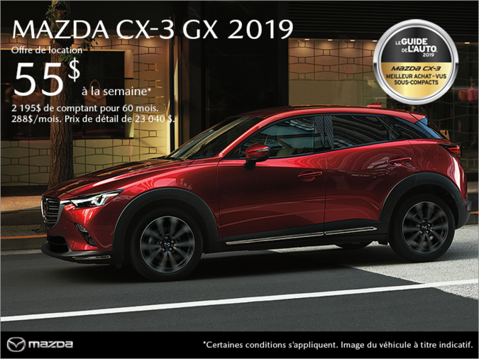 Mazda Saint-Jérôme - Procurez-vous le Mazda CX-3 2019!