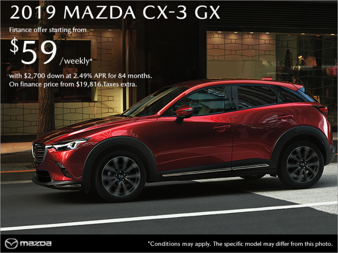 Forman Mazda - Get the 2019 Mazda CX-3 today!
