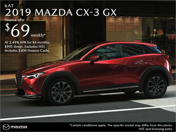 Chatham Mazda - Get the 2019 Mazda CX-3 Today!
