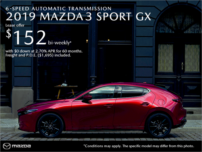Western Mazda - Get the 2019 Mazda3 Sport Today!