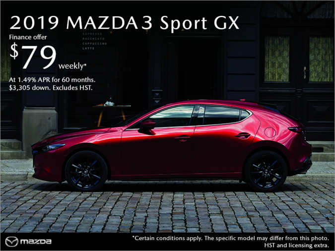 Chatham Mazda - Get the 2019 Mazda3 Sport Today!