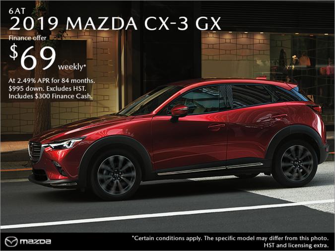 Chatham Mazda - Get the 2019 Mazda CX-3 Today!