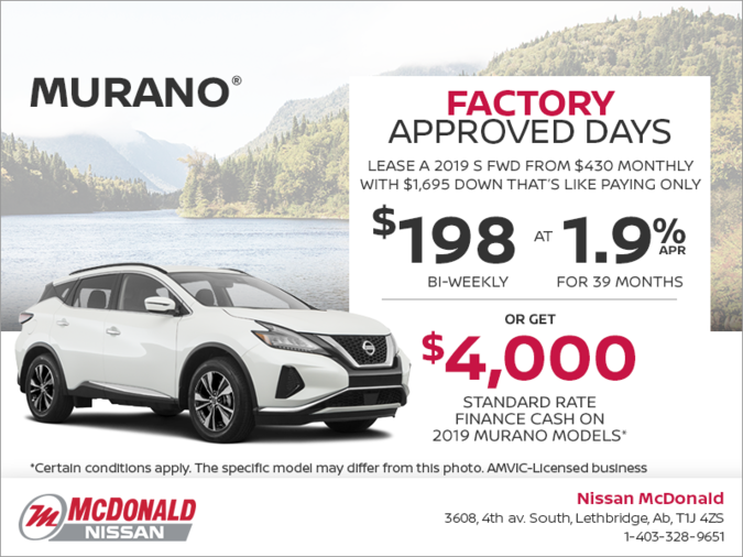 Get the 2019 Murano Today!