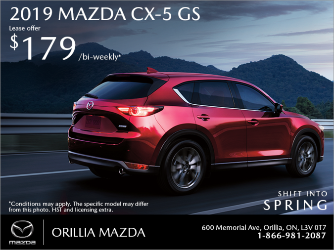 Orillia Mazda - Get the 2019 Mazda CX-5 Today!